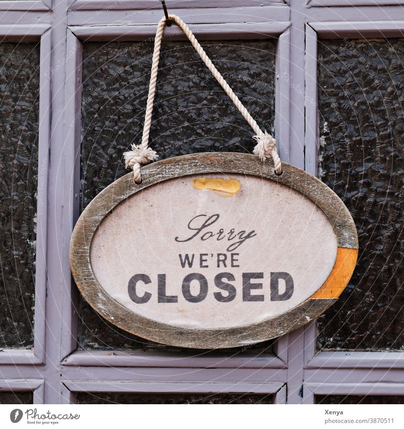 Sorry we are closed - Closed sign door Entrance Old Wood Front door Wooden door Exterior shot Deserted Structures and shapes Colour photo