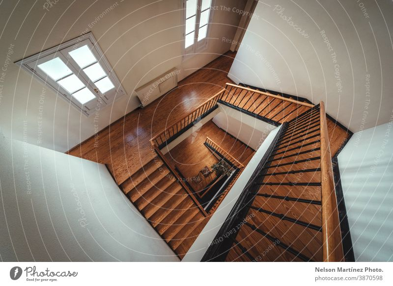 Square stair perspective, abstract architecture. building wood interior lifestyle design stairs classic concept built geometric step structure inside