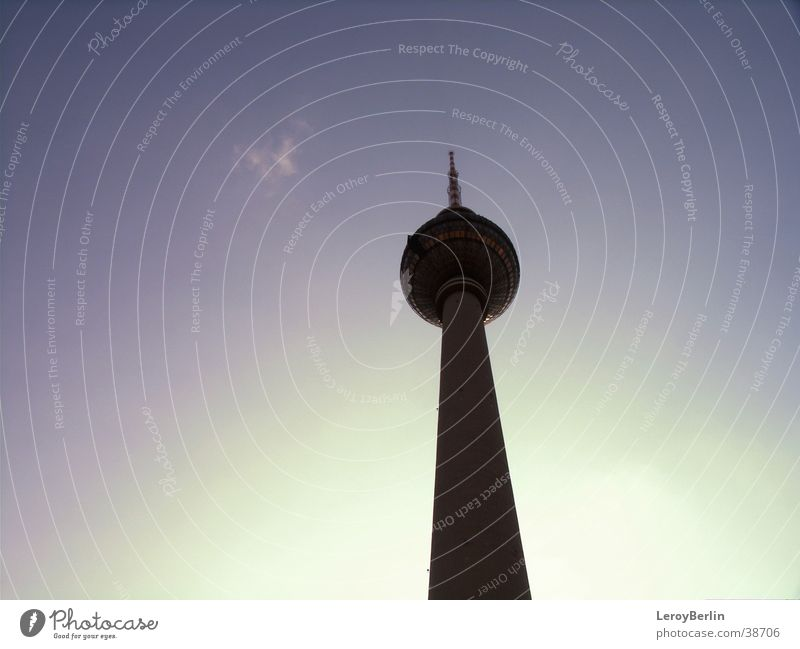 television tower Architecture Berlin television tower sky
