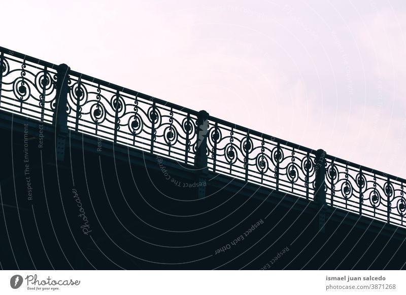 bridge architecture silhouette, Bilbao city, spain Bridge Fence shadow Silhouette Architecture Structures and shapes structure street streetphotography