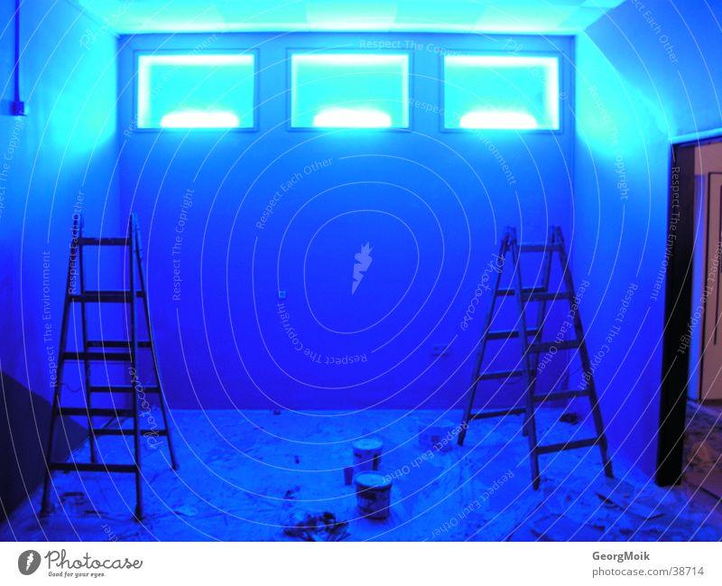 Blue Window Room Lighting Painting (action, work) Photographic technology Warning light