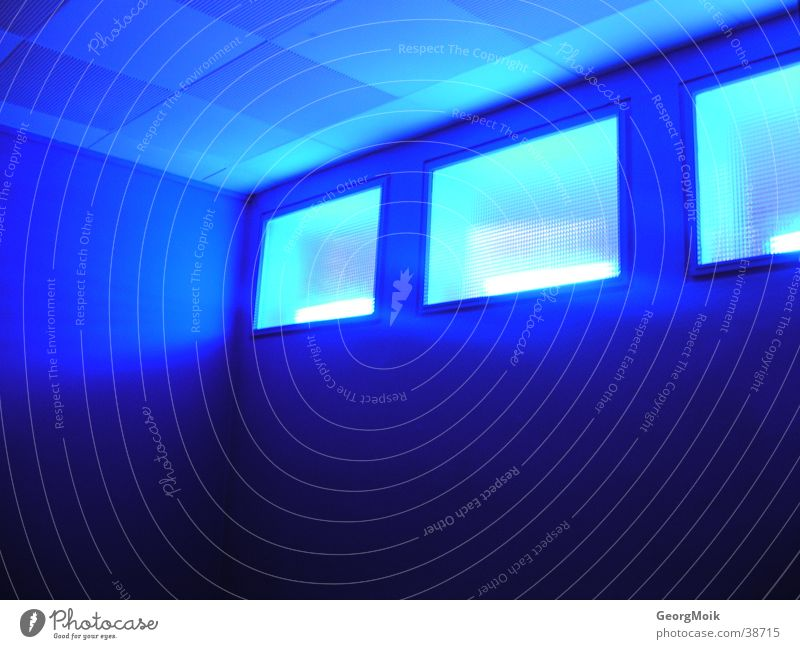 Blue Window Room Lighting Painting (action, work) Photographic technology Warning light