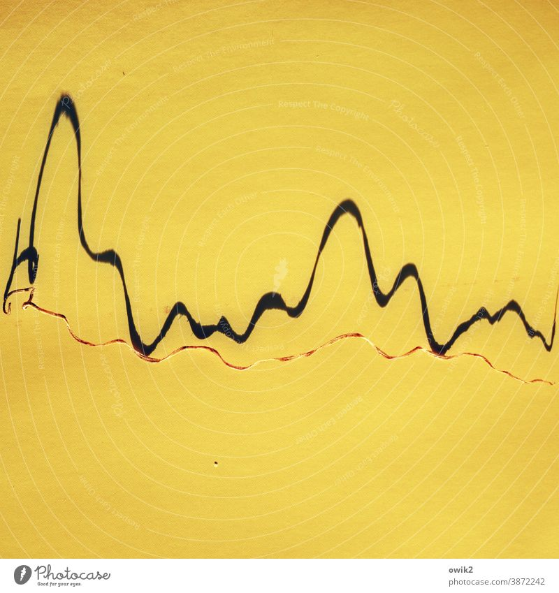 Overview of the Curve Zigzag Abstract Pattern Colour photo Deserted Structures and shapes Illustration Detail Graphic Yellow Background picture Design Line
