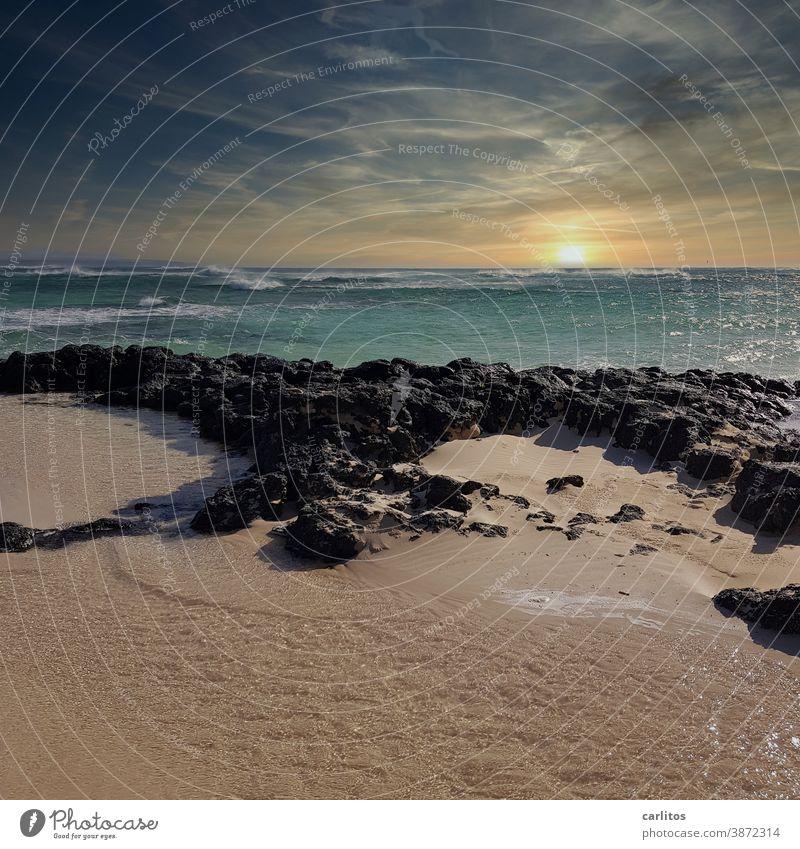 Fuerteventura | Stormy sea at the western beach (El Cotillo Beach) Spain Canaries Los Lagos el cotillo Ocean ocean Atlantic Ocean Gale Waves sunbathe Sunset