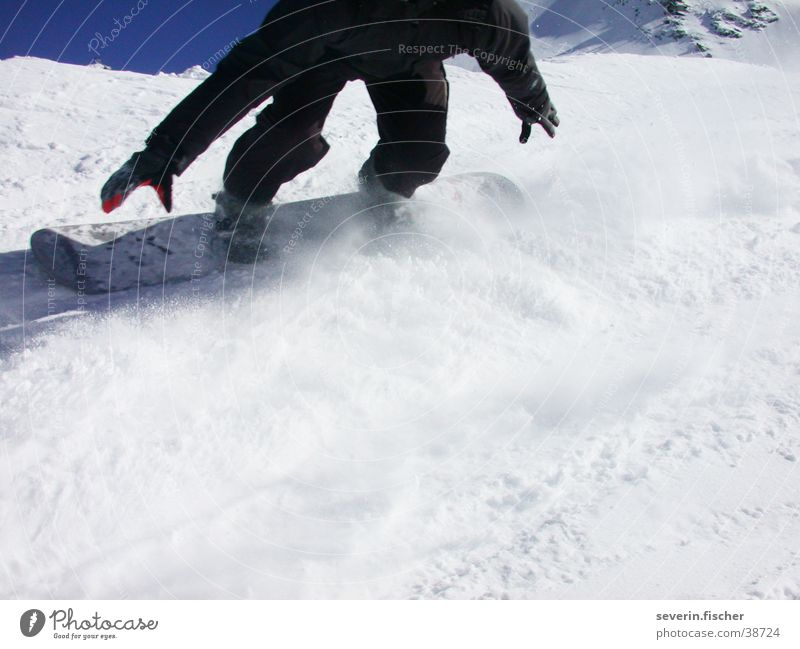 Just cruising... Winter Switzerland Canton Wallis Sports boardercross Saas Fee Snow