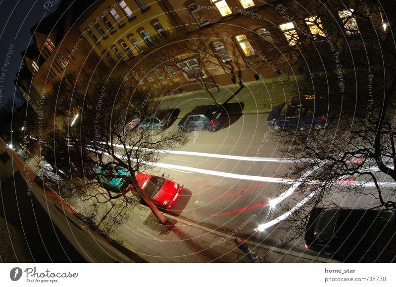 park Parking Night Stripe Swing Long exposure Light Car