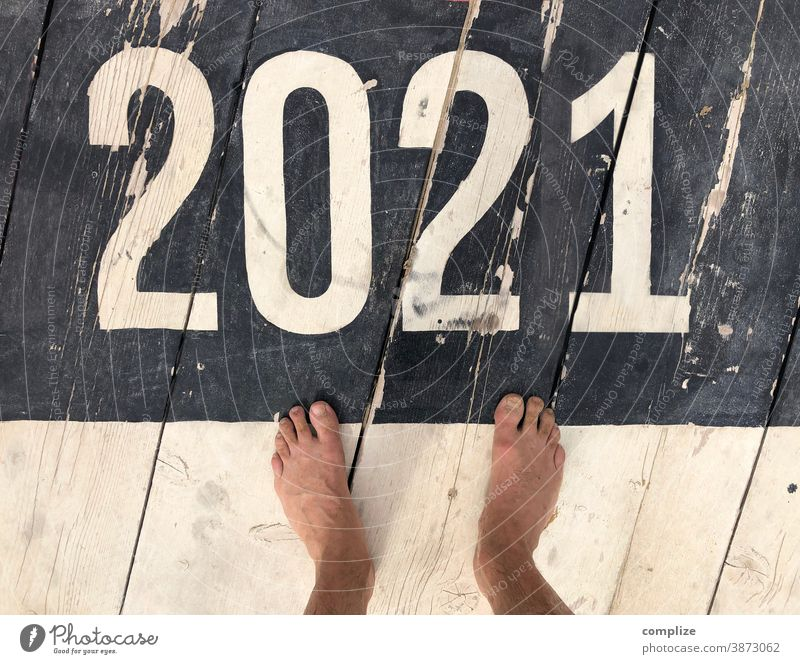 What will 2021 bring? Patina Retro vintage twenty 2020 virus Beach Feet Bird's-eye view annual review wooden floor number figures Future covid-19 coronavirus