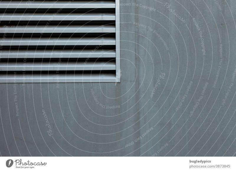 Ventilation in square Facade Gray Vent slot ventilation grille Ventilation shaft ventilation system Wall (building) Geometry geometric Symmetry Neighborhood
