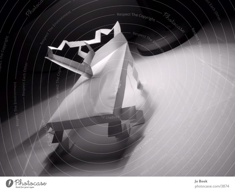 Paper Chair #3 White Art Photographic technology Shadow