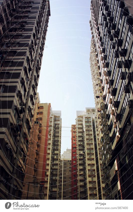 City Architecture Building City life High-rise Tall Gloomy Concrete Asia Claustrophobia Skyline China Apartment Building Alley Narrow Canyon