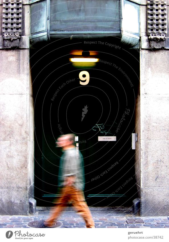 Man Green Movement Architecture Going Door Forwards 9 House number