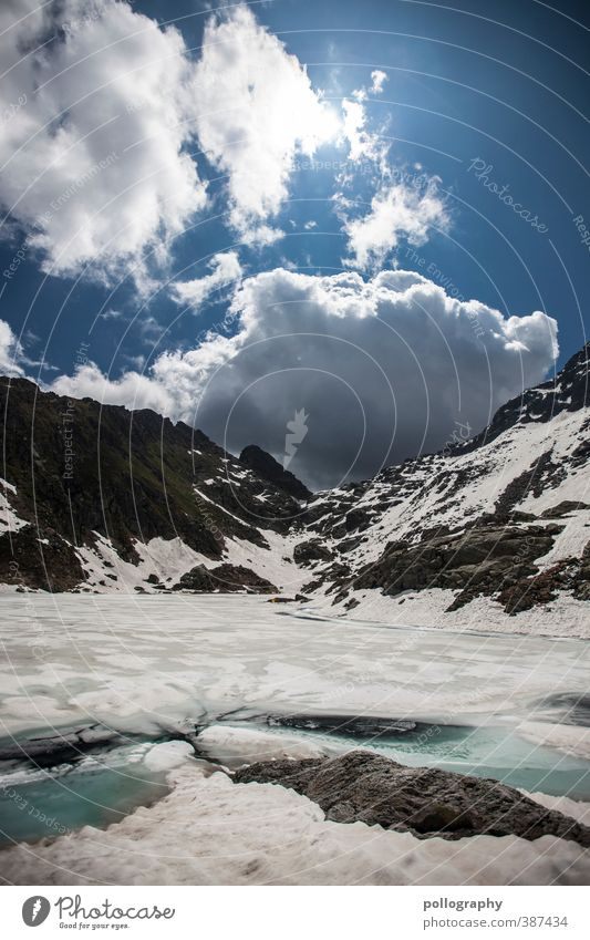 Sky Nature Water Summer Sun Relaxation Landscape Clouds Environment Mountain Snow Freedom Lake Rock Ice Earth