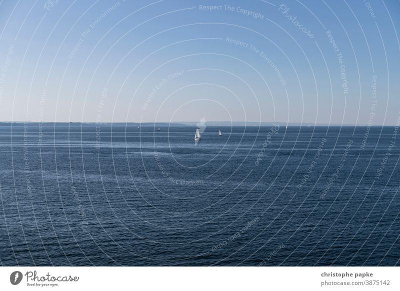 sailboats on the baltic sea Sailboat Baltic Sea Rostock Warnemuende Sailing Ocean Beautiful weather Blue Cloudless sky Baltic coast Vacation & Travel
