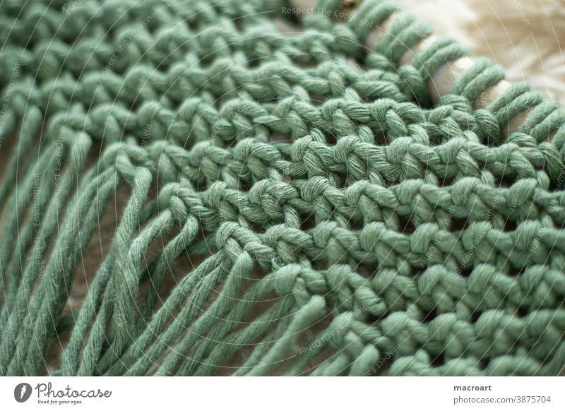 Macramé Node macramé knot cotton ropes cotton yarn Cotton plant Handcrafts DIY hobby node technology Alternative eco birch branch Sheath cushion cover Cushion
