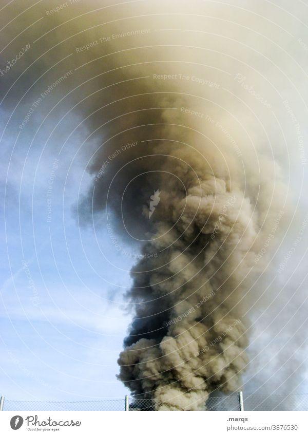 cloud of smoke cataclysm smoke damage Alarm Smoke Blaze Fire Exhaust gas Emergency Burn Sky Poison Climate change Environmental pollution Fine particles