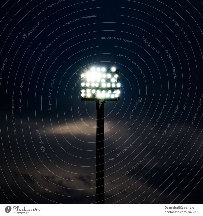let there be light Night life Sporting Complex Sporting event Stadium Sky Clouds Night sky Energy Floodlight Lighting Bright Electricity Energy industry