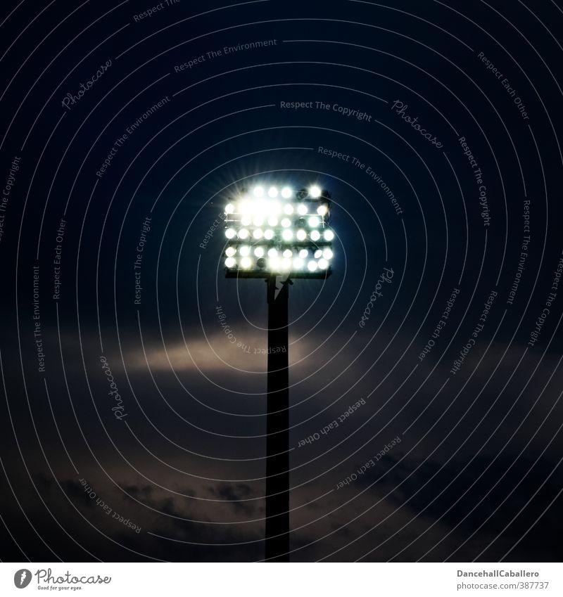 Sky Clouds Sports Lighting Bright Energy industry Electricity Illuminate Electric bulb Sporting event Floodlight Night sky Stadium Night life