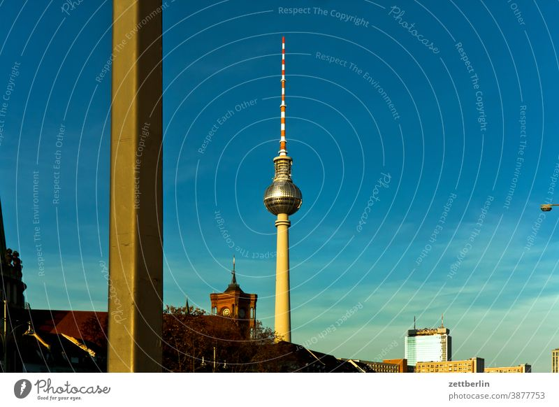 Television Tower and Red Town Hall alex Alexanderplatz Architecture Berlin Office city Germany Television tower Worm's-eye view Capital city