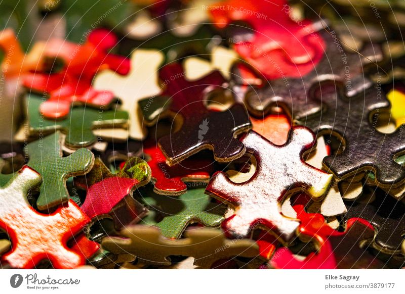 Life is colourful.... Puzzle Colour photo Playing Interior shot Close-up Multicoloured Children's game Leisure and hobbies Shallow depth of field