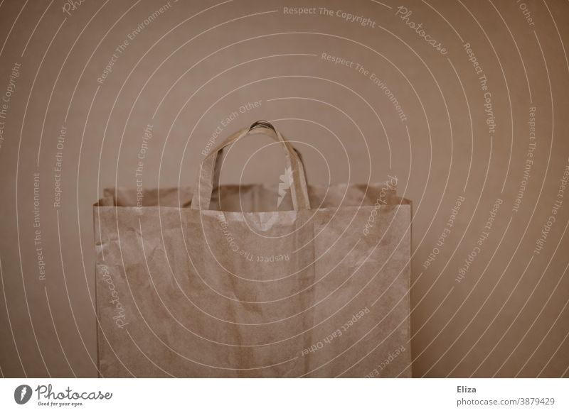 Consumer terror| Brown paper bag Consumption Shopping SHOPPING Paper Sustainability reuse Retail sector Empty