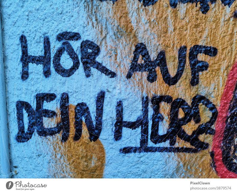 graffiti Graffiti Blue Characters Deserted Facade Wall (building) Art Youth culture Street art Mural painting Subculture Daub Letters (alphabet)