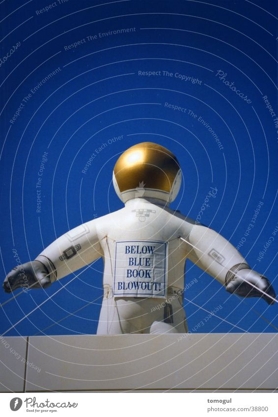 inflatable astronaut Astronautics Obscure advertising figure USA Research