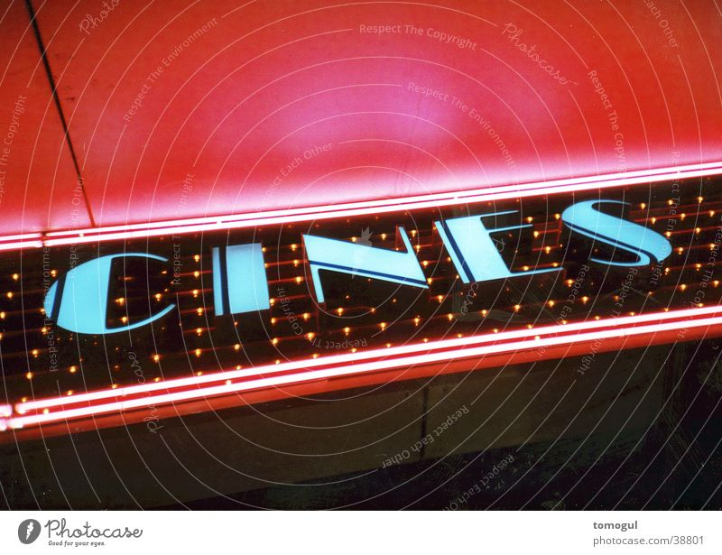 cines Cinema Neon sign Leisure and hobbies movies Film industry