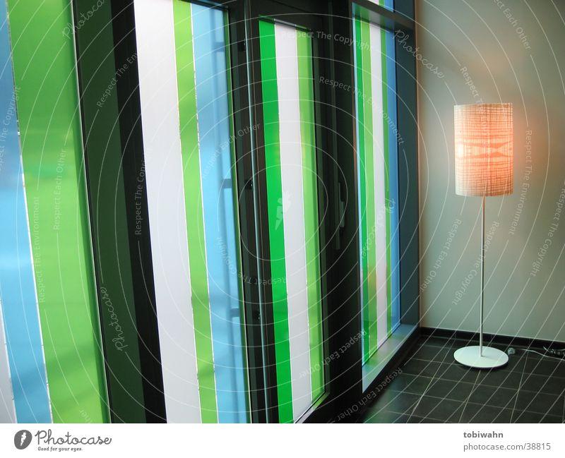 Green Blue Lamp Window Glass Living or residing