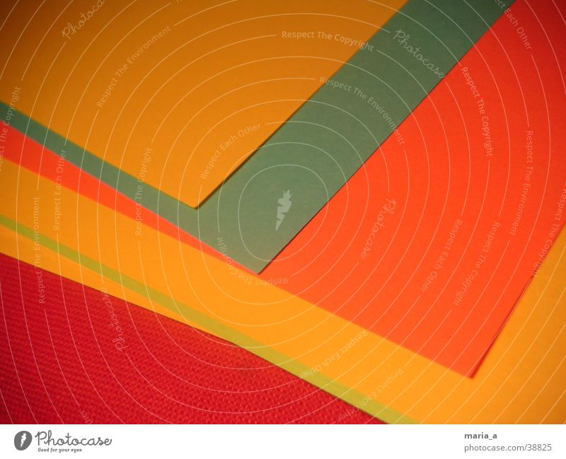 Green Blue Red Yellow Orange Paper Things