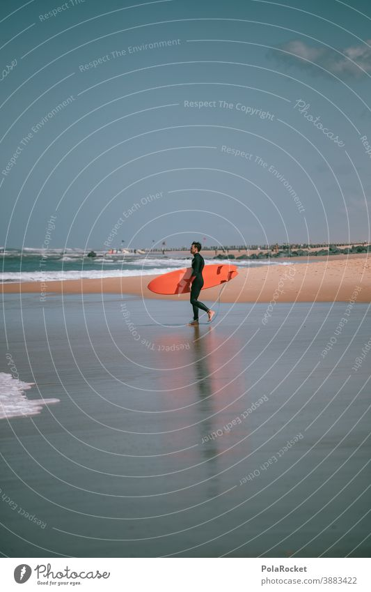 #A0# Surfer's paradise coast Man Lifestyle Athletic Water Timeless To enjoy spiritually Spirituality Snapshot tranquillity Idyll Extreme sports Aquatics Sports