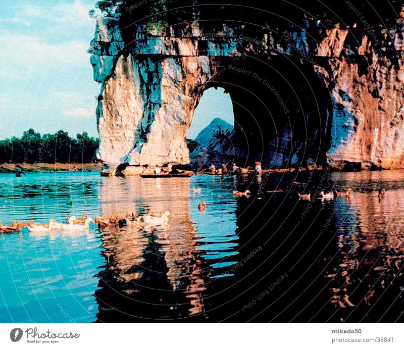 elephant_rock_guilin China Tree Vacation & Travel Water Rock Blue Idyll