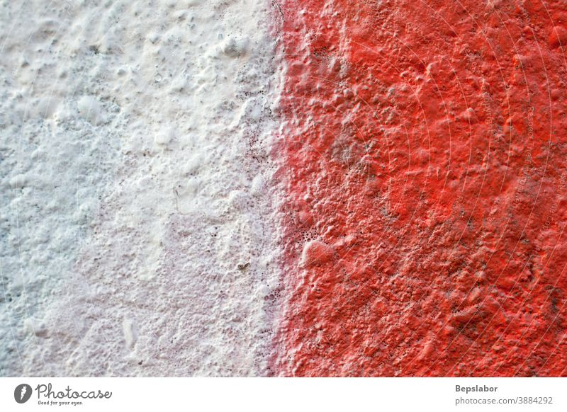 Red and white colors on the wall art background decoration folds paint painting paper rust texture torn wallpaper worn red white wall painted