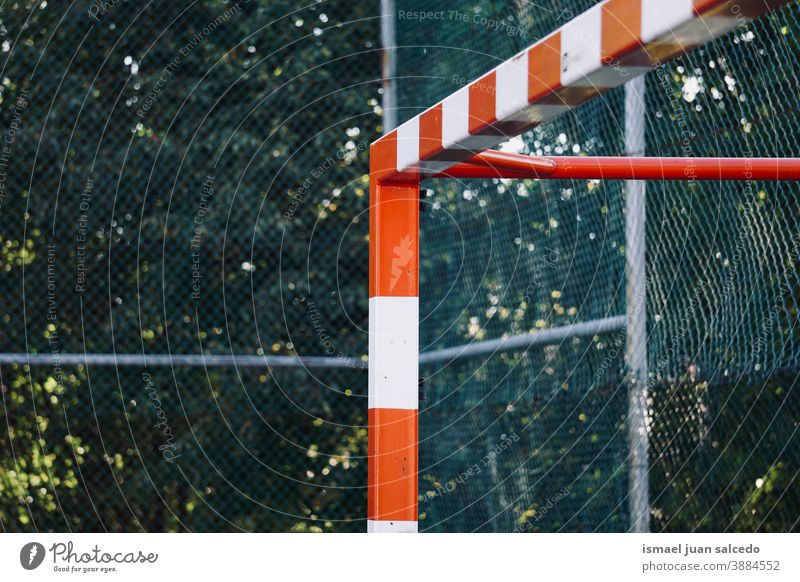 street soccer goal sports equipment field soccer field play playing abandoned old park playground outdoors broken background bilbao spain