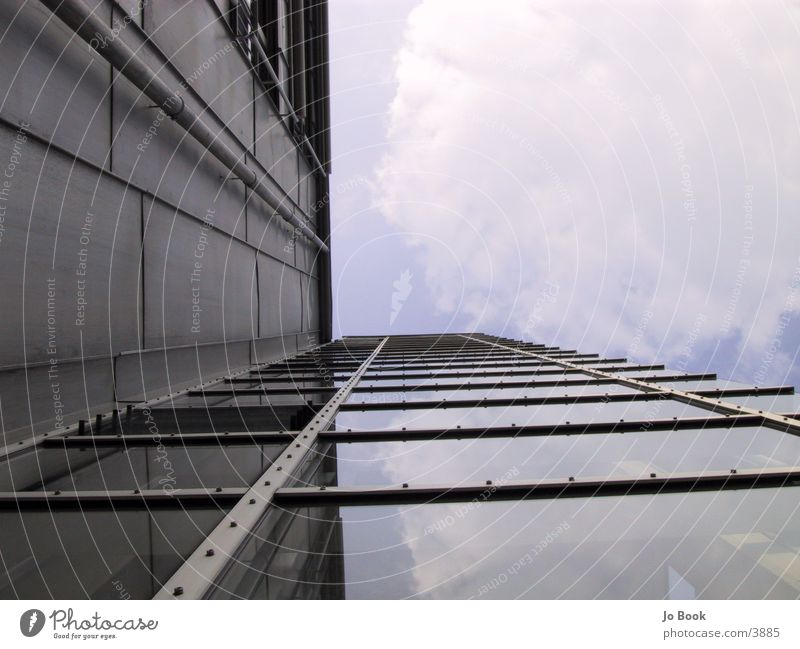 Sky Window Glass Perspective Construction Tin