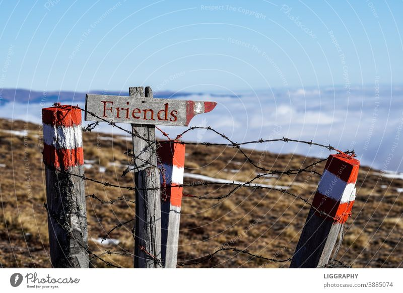 Welcome to friends. off Road marking free Friends by oneself corona coronavirus Austria Carinthia Bans lockdown vacation holiday with friends