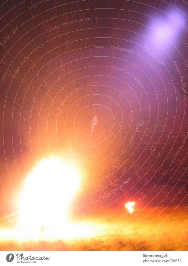 Warmth Blaze Burn Flame Cologne Spark Night shot Flicker the tongue St-Martin