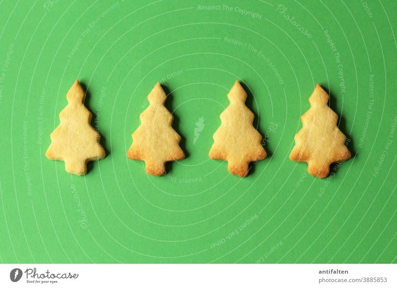 Oh Christmas trees biscuits bake biscuits Cookie cut out cookies Christmas & Advent Baking Baked goods Dough Colour photo Christmas biscuit Delicious Nutrition