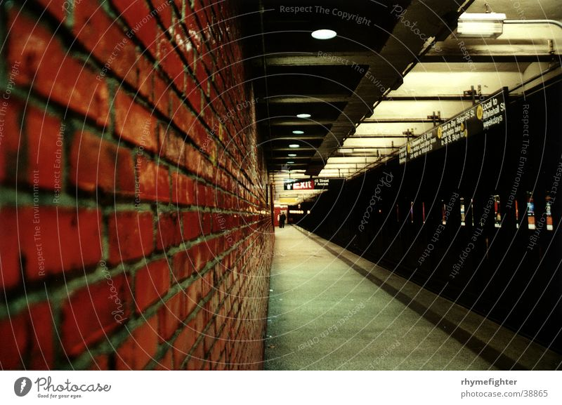 NYC Metro New York City Underground Station Wall (barrier) Transport