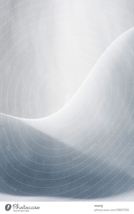 Elegant curves in snow and ice. Spirited Reduced Longing freezing cold Decent Loneliness Mysterious Exceptional White Dream Snowy hill Ice Uniqueness Calm
