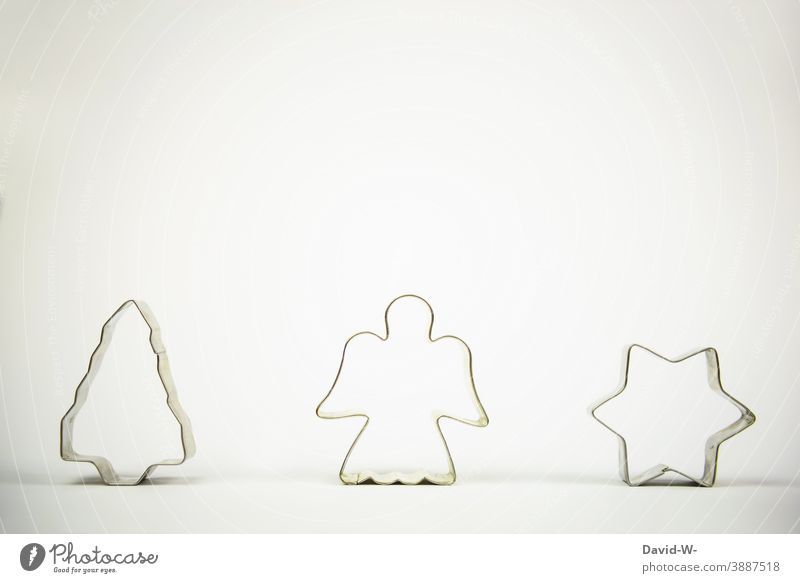 Christmas - Christmas decoration in the form of cookie cutters Christmas & Advent Christmas tree Angel Stars symbol Christmassy Placeholder Festive Decoration