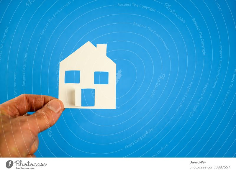 a homemade house in hand House (Residential Structure) Self-made Real estate market real estate House building financing dwell Architecture Living or residing