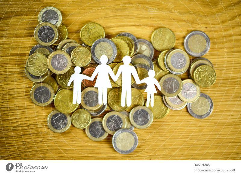 Family and money / Parental allowance / Family allowance / Child benefit Money family supplement parental allowance child benefit € Euro Debts Possessions
