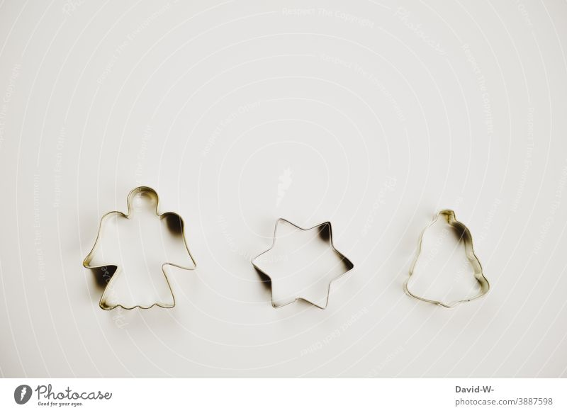 Cookie cutters - Christmas with angel, star and bells Christmas & Advent Christmas decoration symbols concept Angel Stars Bell Christmas biscuit cookie cutter