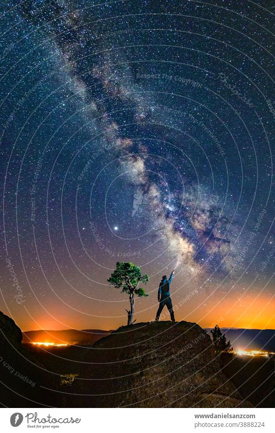 Man playing the milky way astrophotography outerspace galactic center telescope astronomical long exposure cosmic natural light starlight longtime exposure