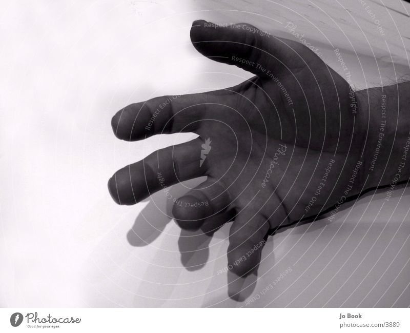 Big HAnd Hand Fingers Large Human being Black & white photo Catch Wrinkles
