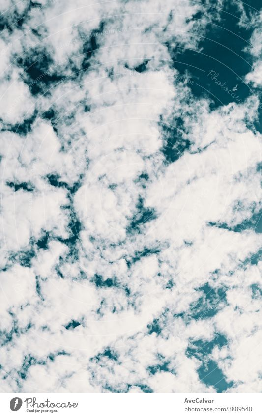 Background made of clean white clouds over a deep blue sky wind cloudy nature heaven meteorology panorama warming high sunny natural bright oxygen spring