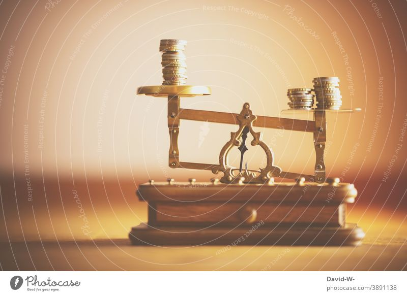 Libra - wealth and possessions - unbalanced Luxury Possessions finance determine Complain Scale Inequity uneven division Money Euro €