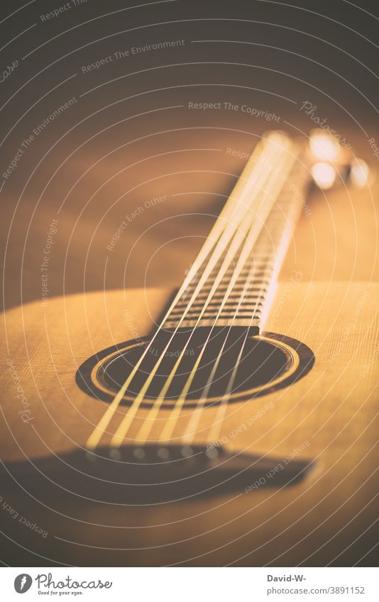 Guitar - musical instrument and warm colors Music Musical instrument Nostalgia Concert Moody hobby Culture