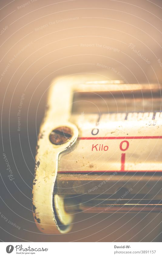 a section of an old scale Scale Old Nostalgia Weigh Weight Detail nostalgically Trade Measuring instrument business