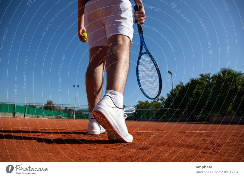 Tennis Player Befor First Service tennis player sportsman ball serve court hitting aerial shoot powerful ace win game set competition point score racquet racket